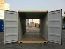 20' Double Door RAL 1001 shipping containers